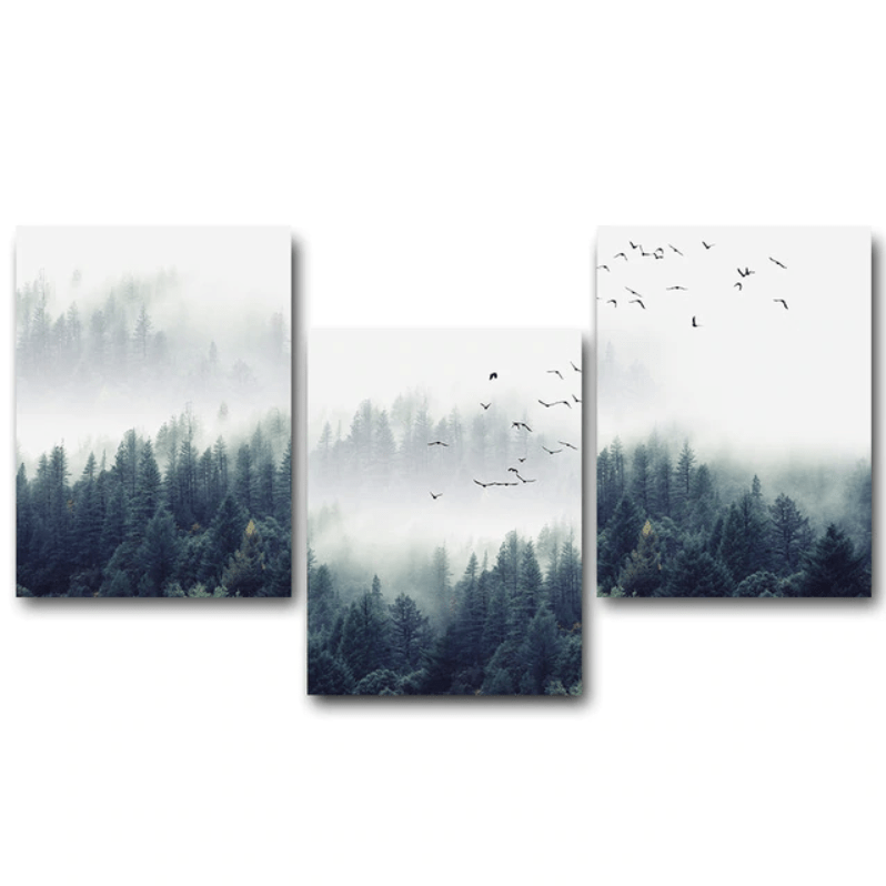 Forest Landscape Canvas In 2021 Forest Wall Art Landscape Wall Art Canvas Wall Art