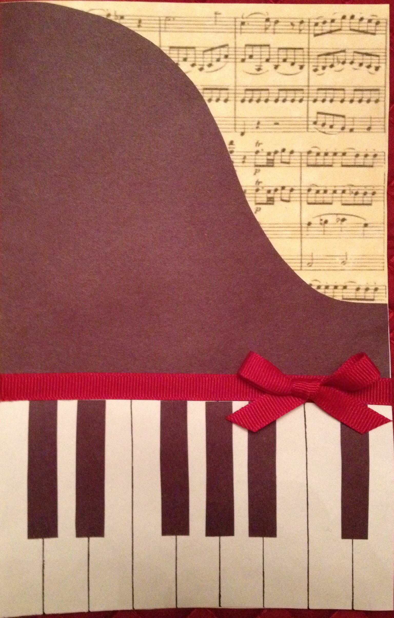 Birthday friendship thank you card blank music note