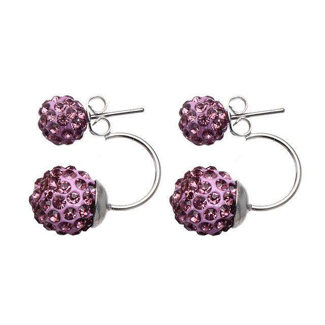 Fashion Crystal Disco Ball Earrings
