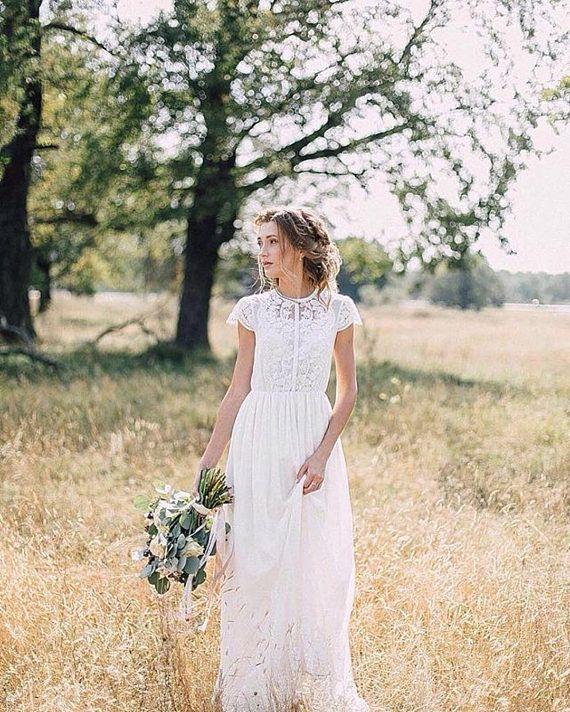 Vestido de novia D0035 | vestido de novia, vestido de novia boho, vestido de novia, vestido de novia, vestido bohemio, vestido de novia de encaje, vestido de novia