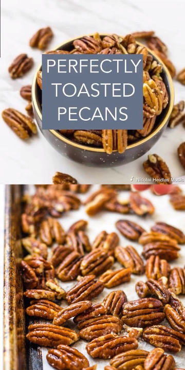 Perfectly Toasted Pecans - Buttery Salted Nuts