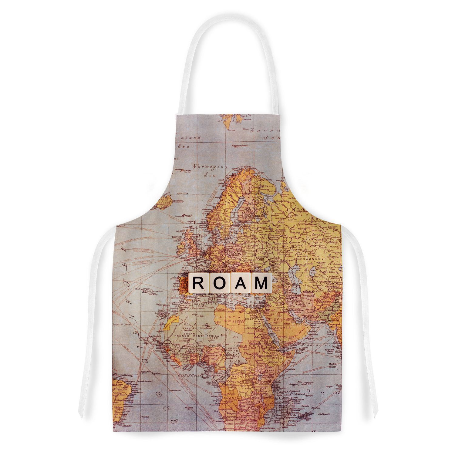 Roam Map by Sylvia Cook World Artistic Apron