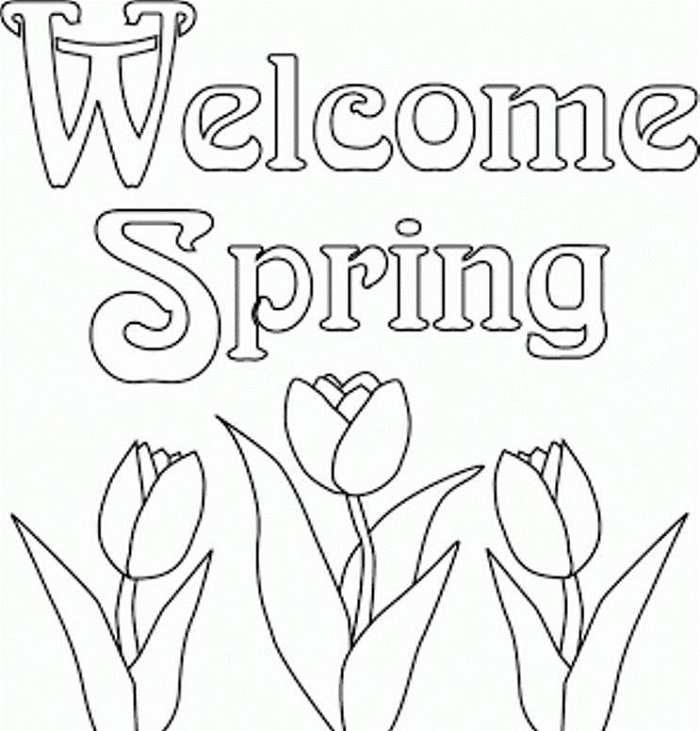 Pictures To Print To Color Spring Coloring Sheets Spring Coloring Pages Coloring Pages To Print