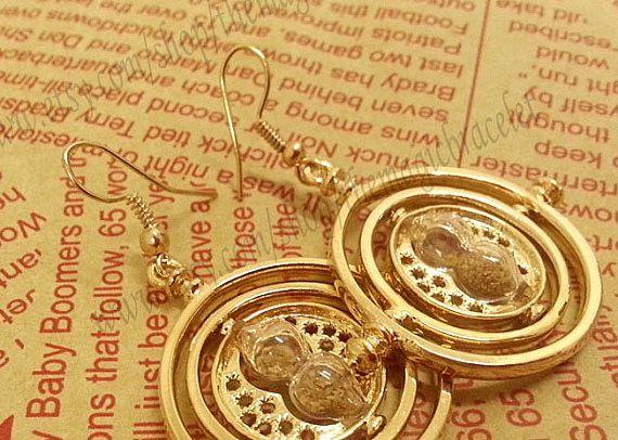 Bib earrings 18K Harry Potter Jewelry Hermione by themagicbracelet, $11.20