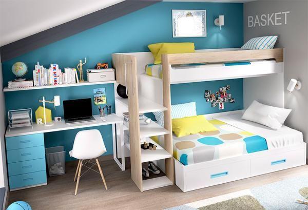 Best Rimobel Modern Bunk Bed With Under Bed Storage And Desk 400 x 300