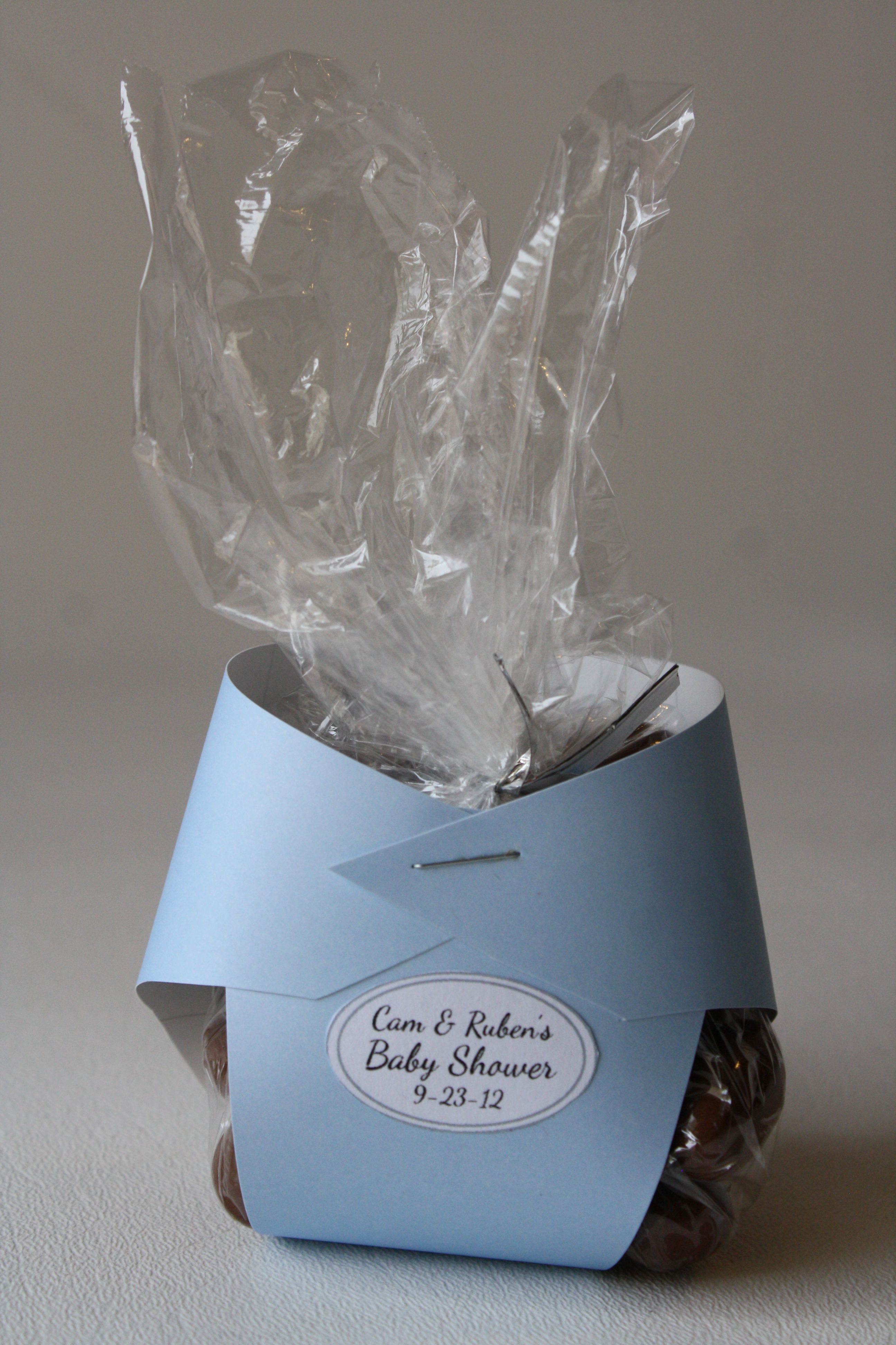 Baby Shower diaper favor if I ever host a baby shower This is so