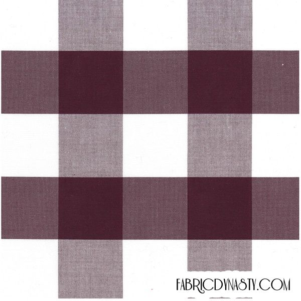 Fabric is 100% Cotton in Plain weave, it is yarn dyed check fabric, check colors are Black Rose and White.