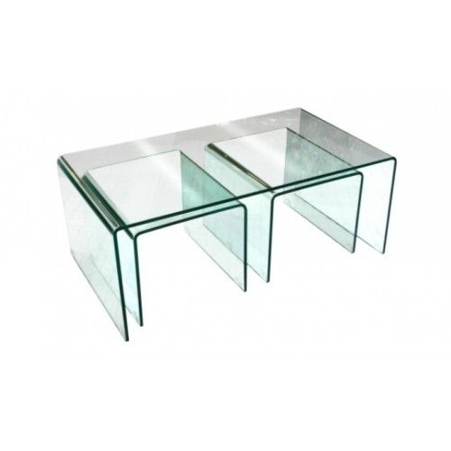 Bent glass nest of tables oblong for the home pinterest tables bent glass nest of tables oblong watchthetrailerfo