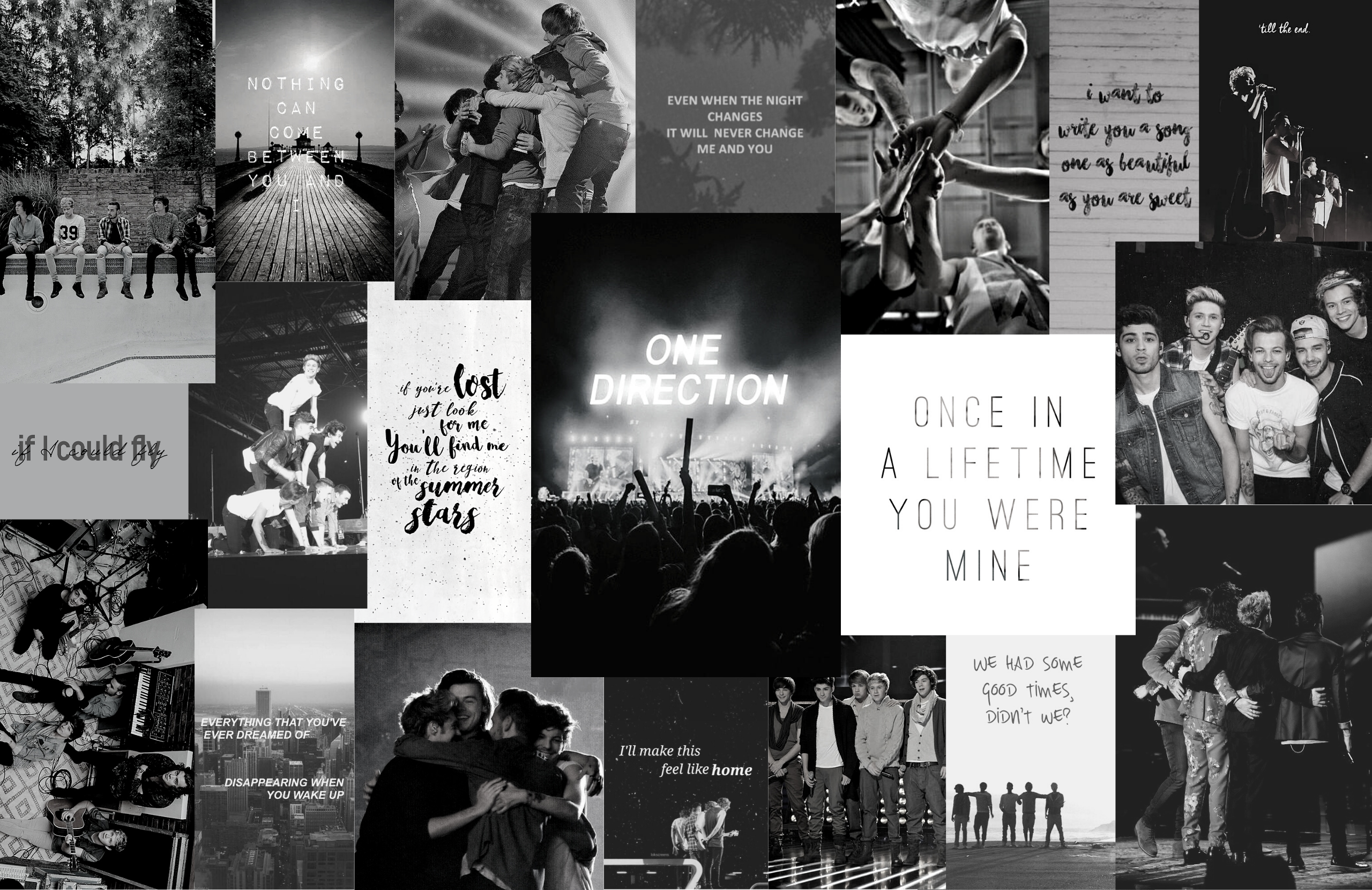 One Direction Aesthetic Computer Wallpapers Colored And B W One Direction Wallpaper One Direction Background Mac Wallpaper