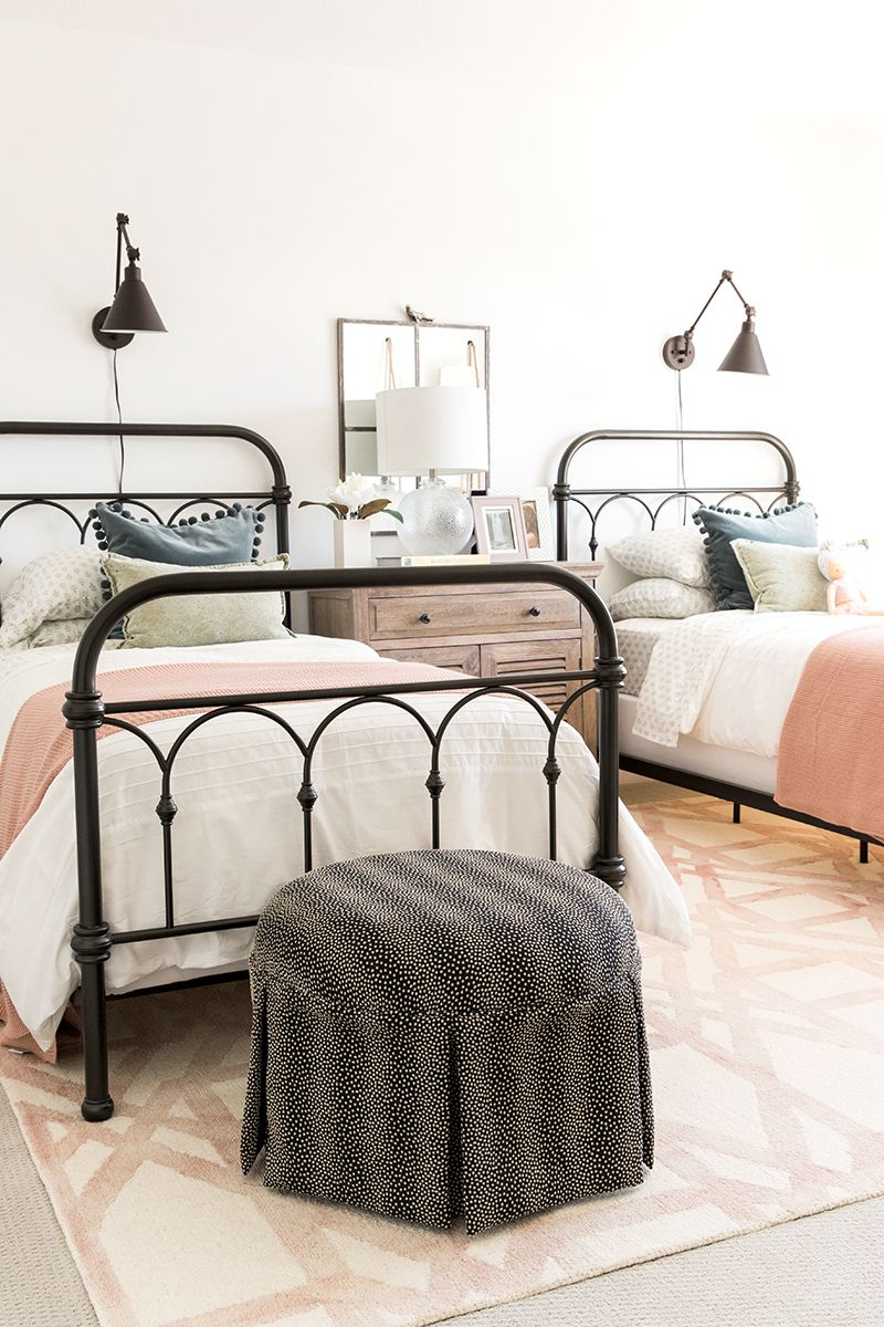 The Classic But Modern Farmhouse Guest Bedrooms Shared Girls