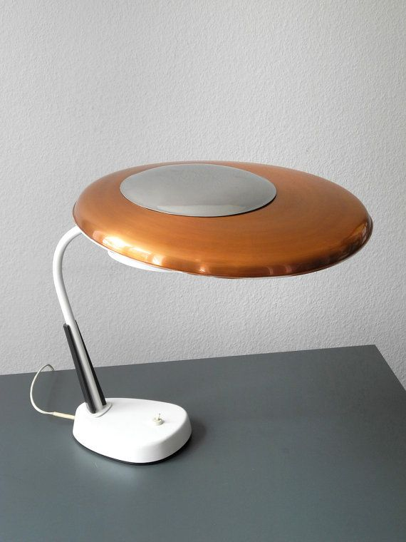 60s Table Lamp Made Of Heavy Metal