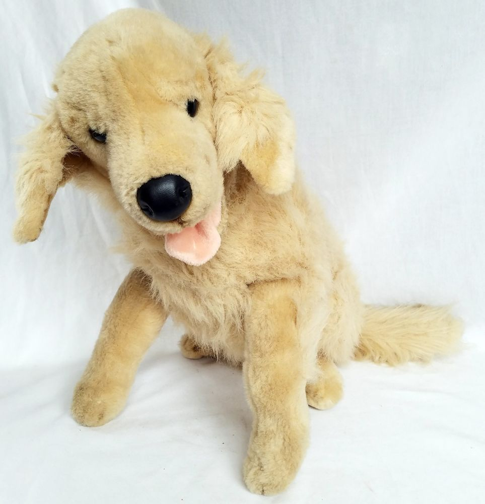 Golden Retriever Poseable Dog Stuffed Animal Plush Toy 15 In Tall