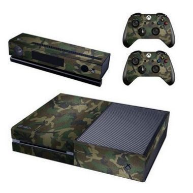 Xbox One Console Skin Decal Sticker Camouflage + 2