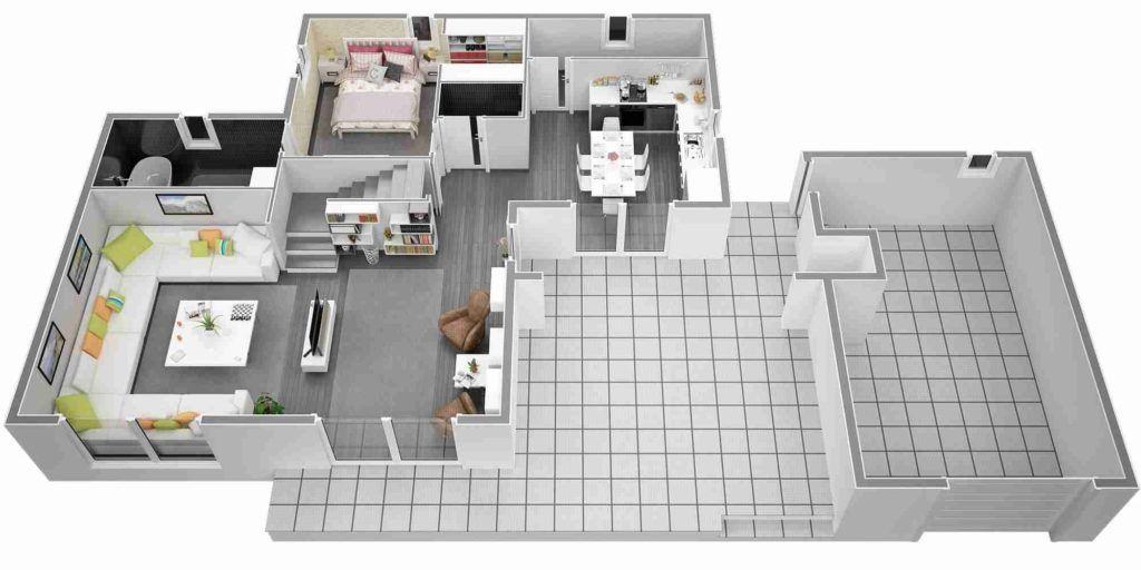 Extraordinaire Plan Maison Moderne Tage Emejing D Une De