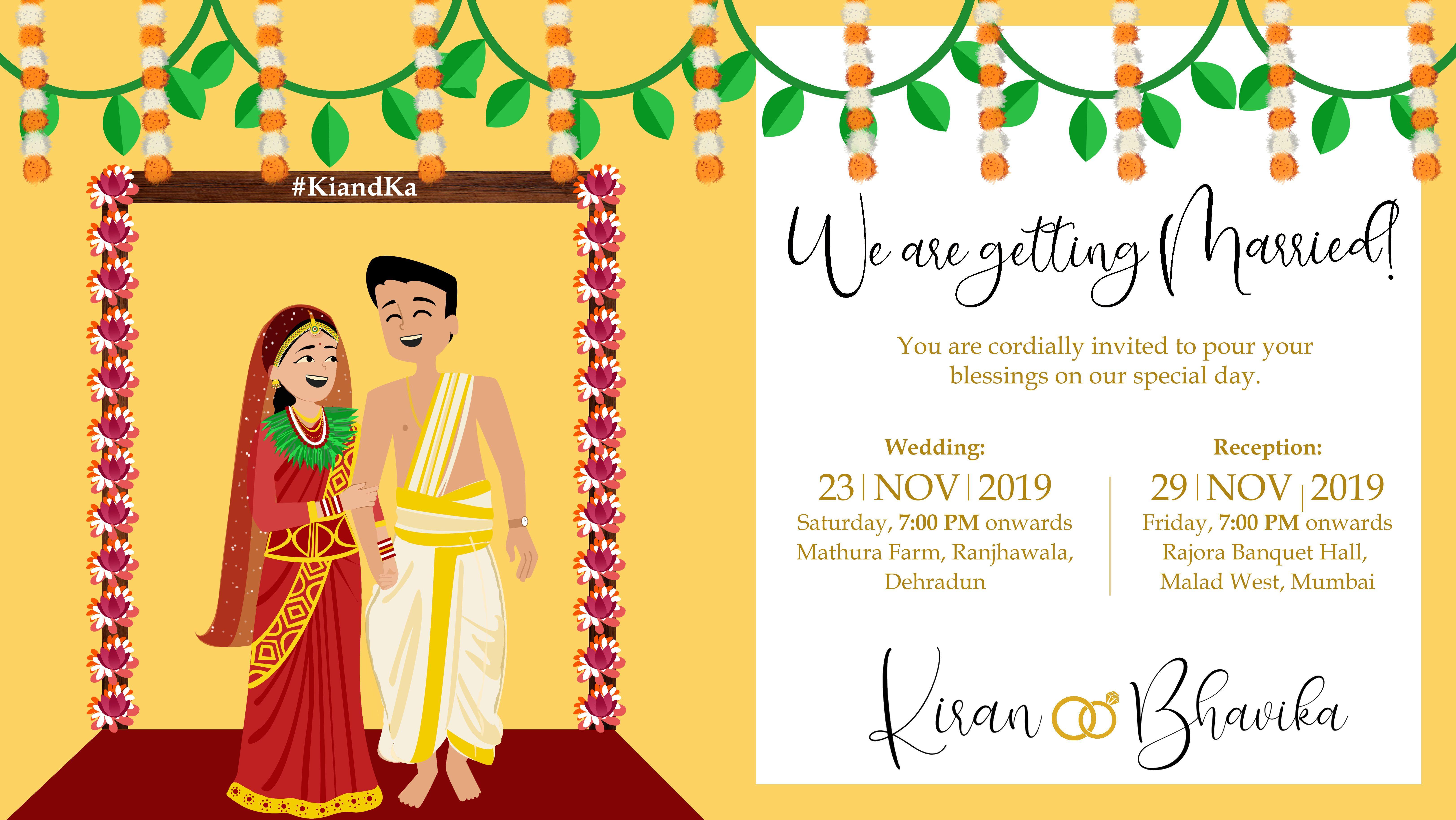 A Nepali And Bengali Wedding Wedding Illustration Wedding Wedding Cards