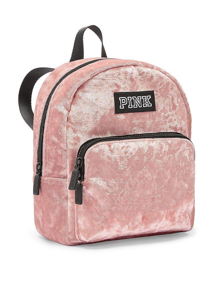 Victoria s Secret PINK Luxe Velvet MINI Backpack School Travel Bag Great  Gift 894b00e1cf58f