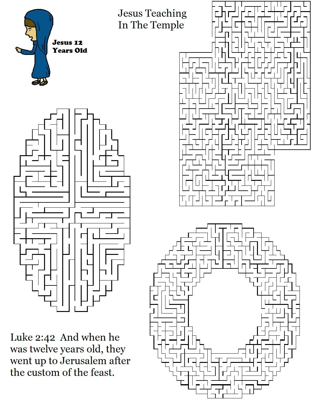 worksheet Jesus In The Temple Worksheet church house collection blog boy jesus teaching in temple maze maze