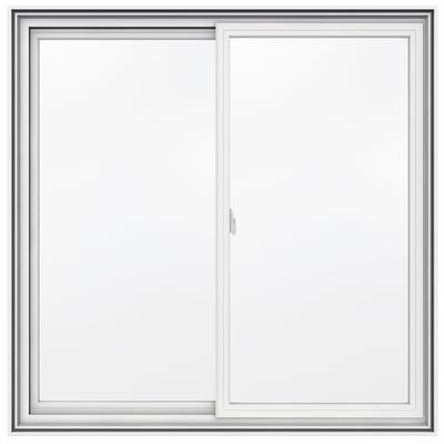 JELD-WEN Windows & Doors 5000 SERIES Vinyl Double Sliding Window ...