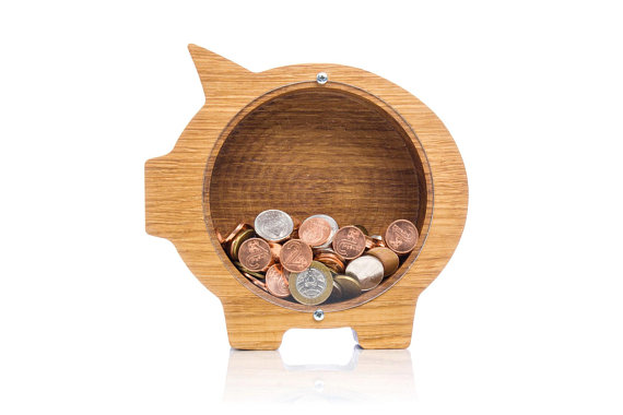 Wooden Piggy Bank For Boys And Girls Personalized Coin Bank For