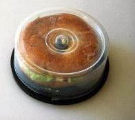 i wish i thought of this  a CDR-W case or a DVD-W case to hold a bagel sandwich to keep it fresh!