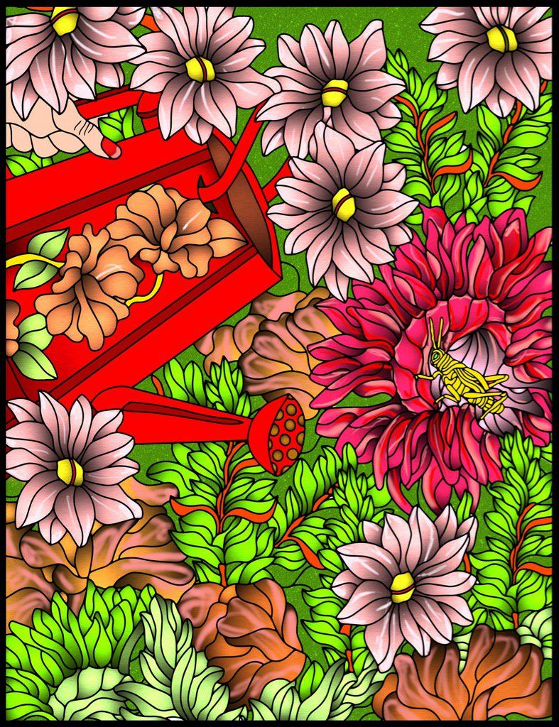 Check out the new adult coloring book Relaxing Garden by Kathy ...