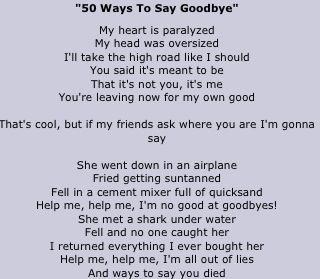 Leaving and saying goodbye lyrics