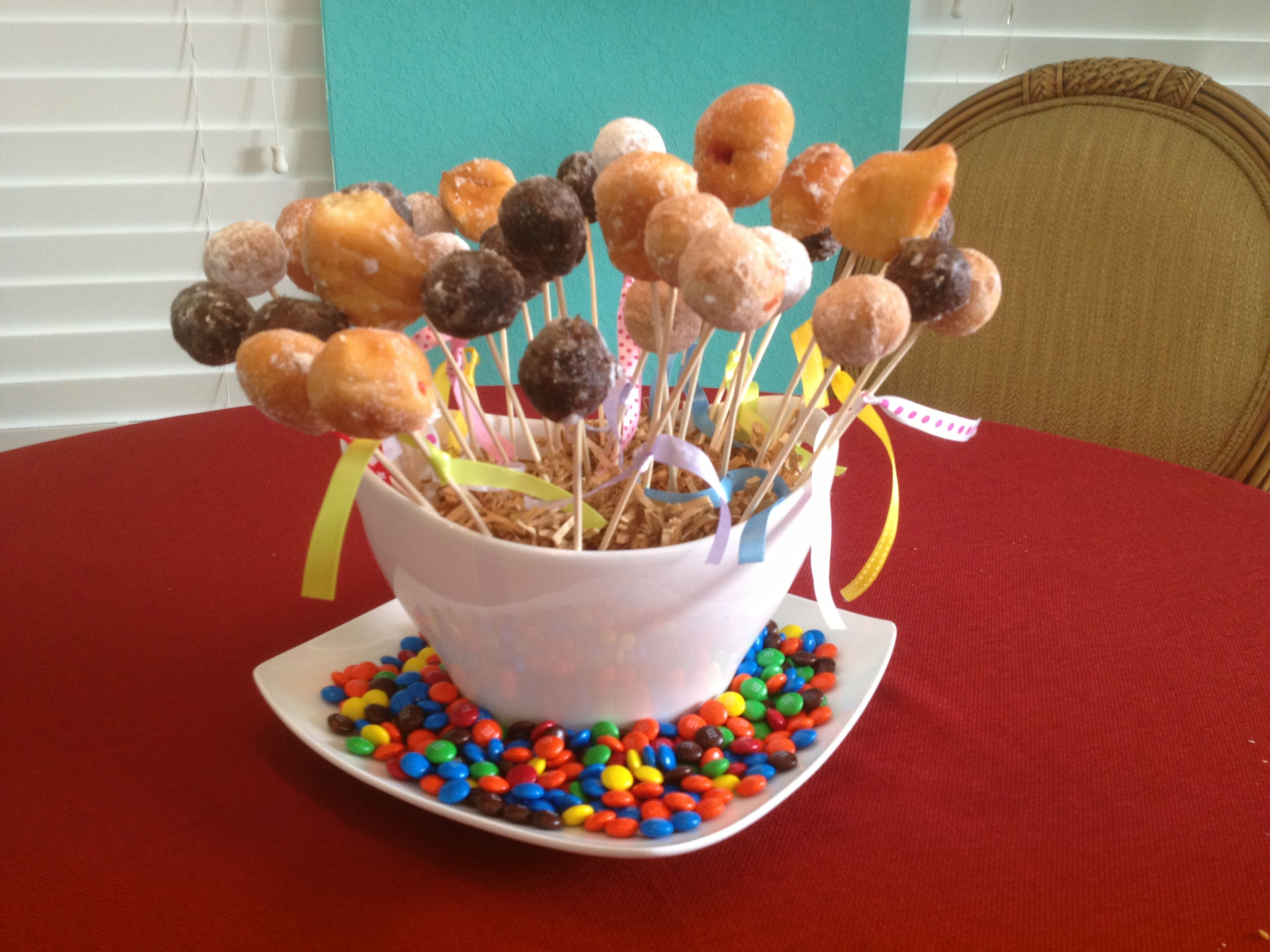 Breakfast donut holes cake breakfast donuts cake cake