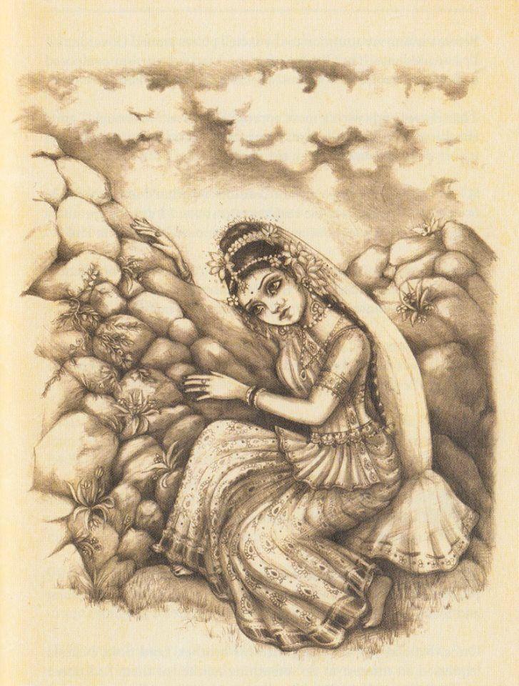 Radharani | Krishna painting, Krishna drawing