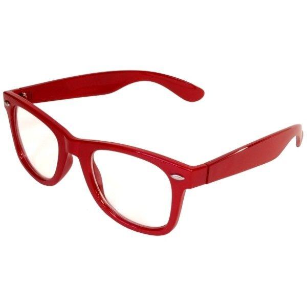 3412c3e51dd Image Detail for - Nerdy Fake Clear Glasses Wayfarer Red Color Frame ...