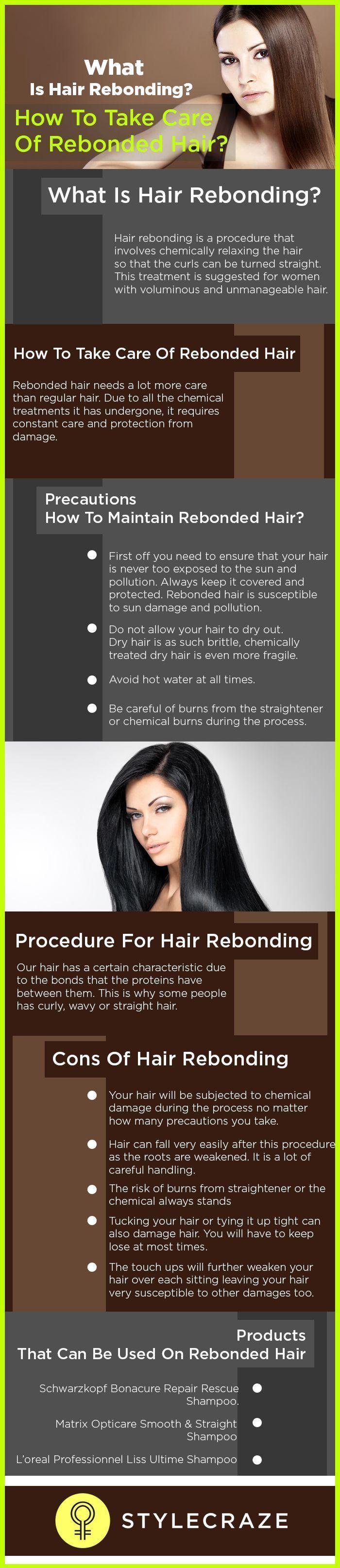 Hair Care What Is Hair Rebonding How To Take Care Of Rebonded Hair Haare Pflegen Haarpflegemittel Haare