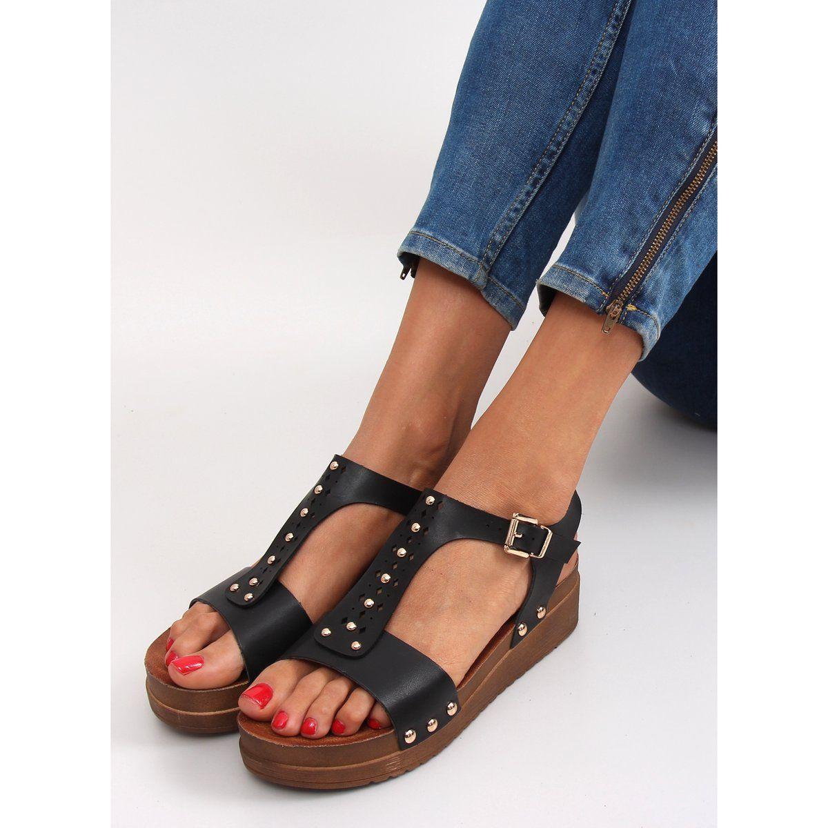 Sandalki Na Grubej Podeszwie 568 5 Black Czarne Shoes Sandals Birkenstock