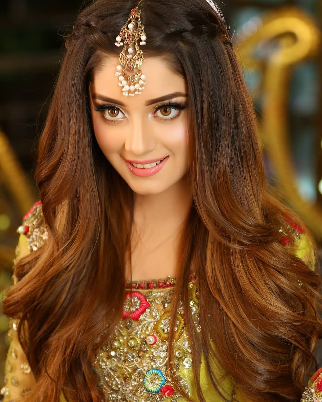 Image May Contain 1 Person Closeup Engagement Hairstyles Hair Styles Indian Wedding Hairstyles