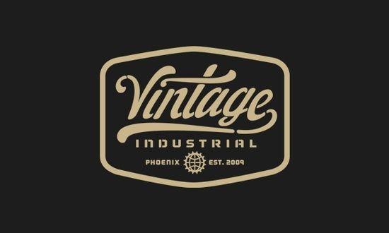 Vintage Industry Logo Lettering Logo Design