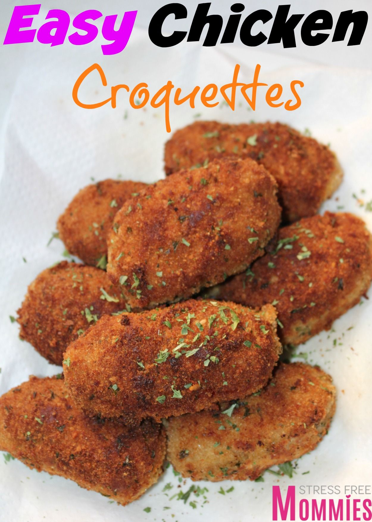 Easy Chicken Croquettes Recipe Chicken Croquettes Croquettes Recipe Chicken Appetizers