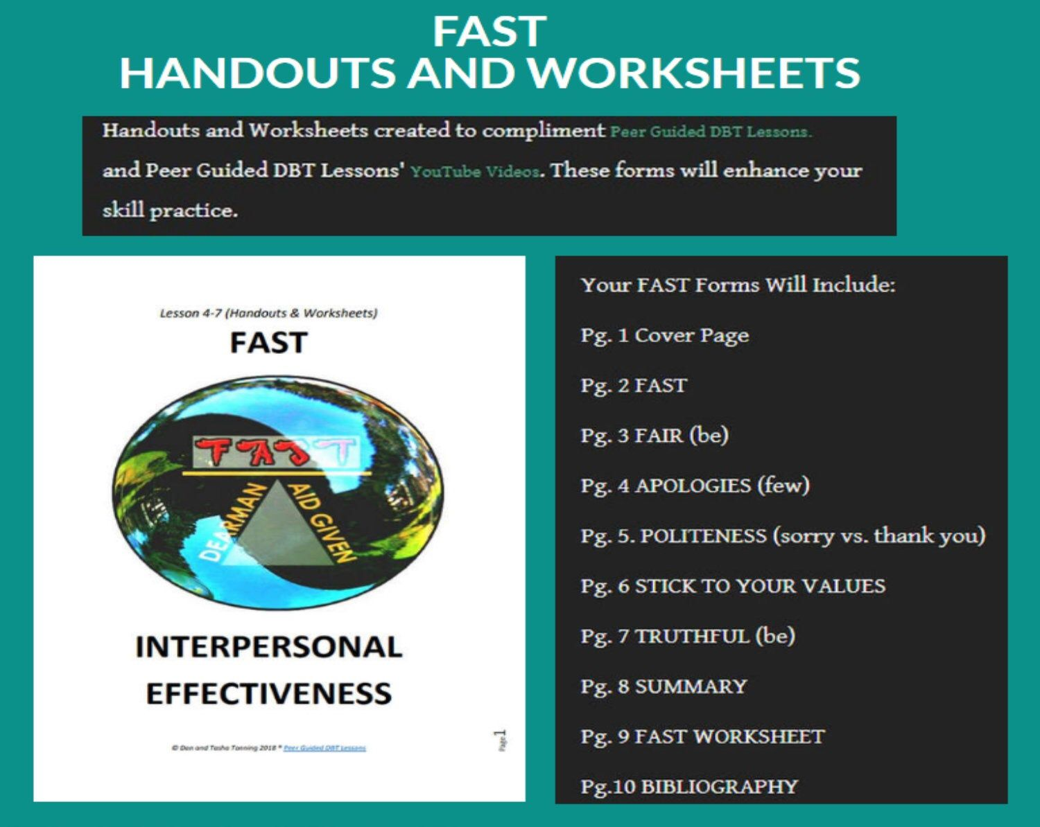 Dbt Lesson 4 7 Interpersonal Effectiveness F A S T