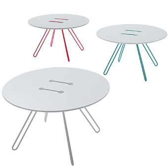 High Quality Small White Twine Table By Wis Design For Casamania Amazing Design