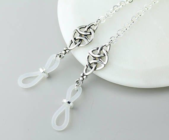8702ecfeaeec Silver Celtic Eyeglass Holder Necklace Celtic Eyeglass Chain Garra