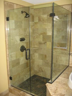 Glass Shower Walls Knee Wall Shower Doors 5 Shower