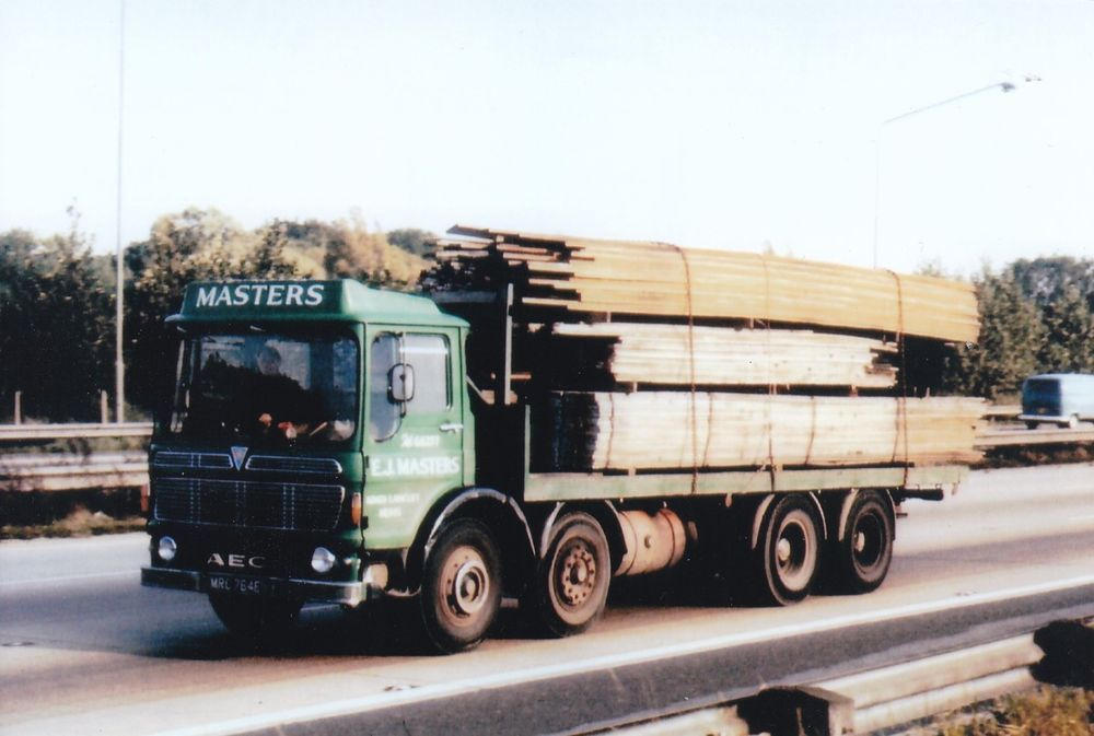 Col Photo E J Masters Aec Mammoth Major 8 Wheel Rigid Flat Mrc 764e Na Vintage Trucks Old Lorries Photo