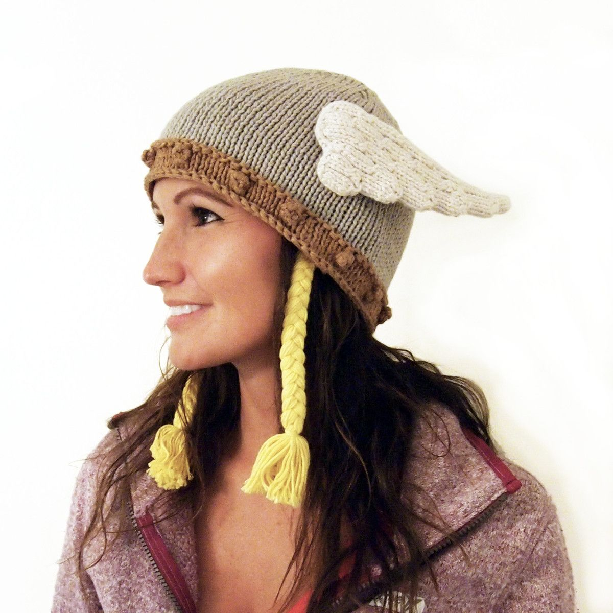 Valkyrie Hat - love that the wing is cable knit (no pattern, but ...