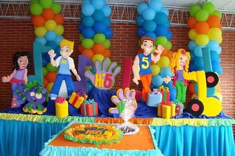 Mesa Personajes Hi5 5th Birthday Party Ideas Bday Party Kids Birthday Theme