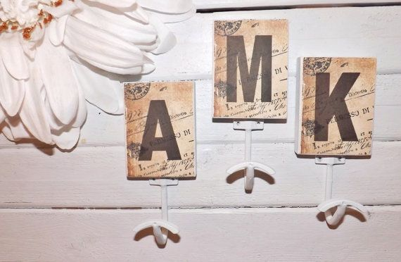 Letter hook wall decor