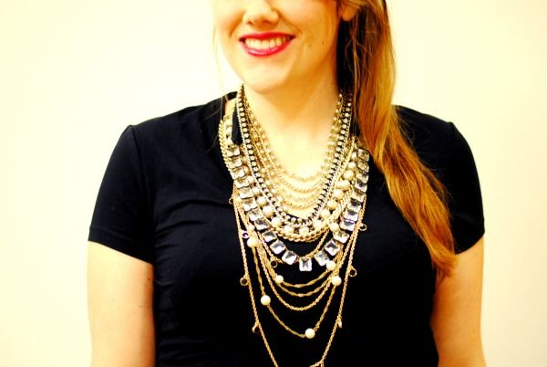We love how @Glitter Guide shows us how to masterfully layer our necklaces to create a more dramatic look.--Thanks!