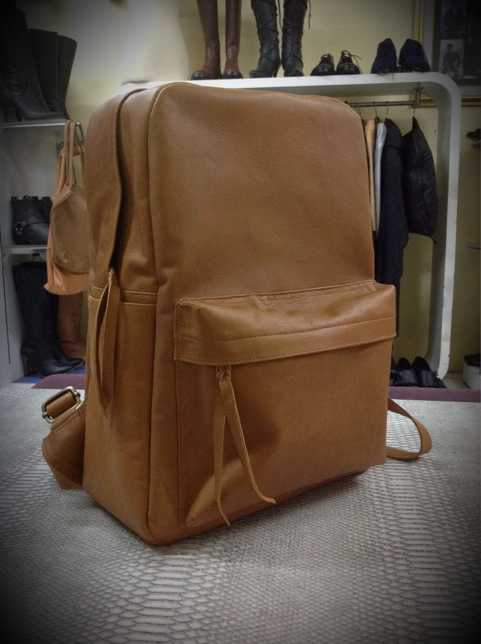 549002e178c5 Backpack in kuta bali custom made from real genuine leather and any size