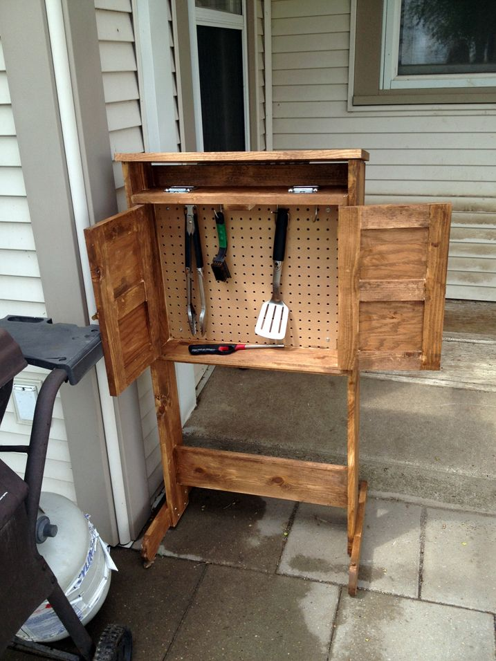 Diy Grill Caddy Make This Grill Caddy For Your Patio And