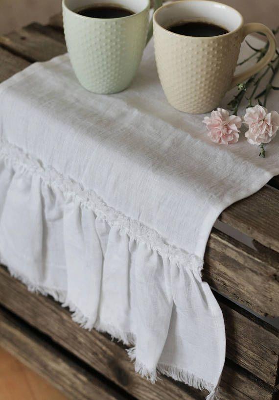 Table Runner Rustic White