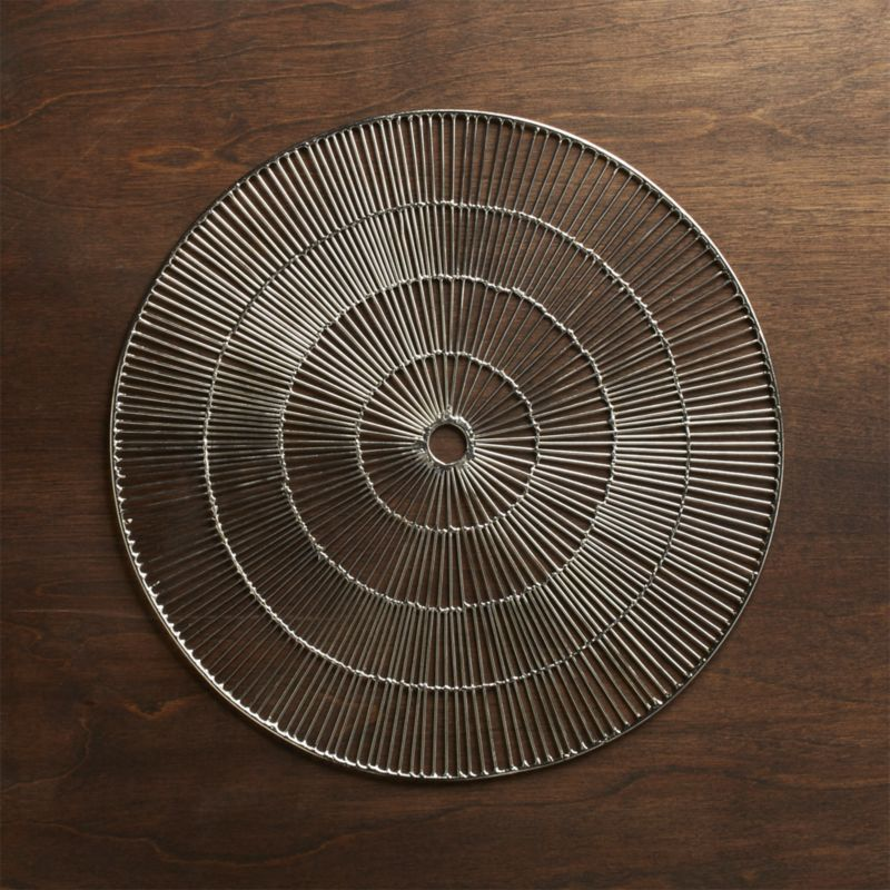 Round Silver Placemat Reviews Crate