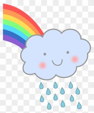 Cute Rain Cloud With Rainbow Clipart Rain Cloud With Rainbow Png Download In 2021 Rainbow Clipart Rainbow Png Clip Art