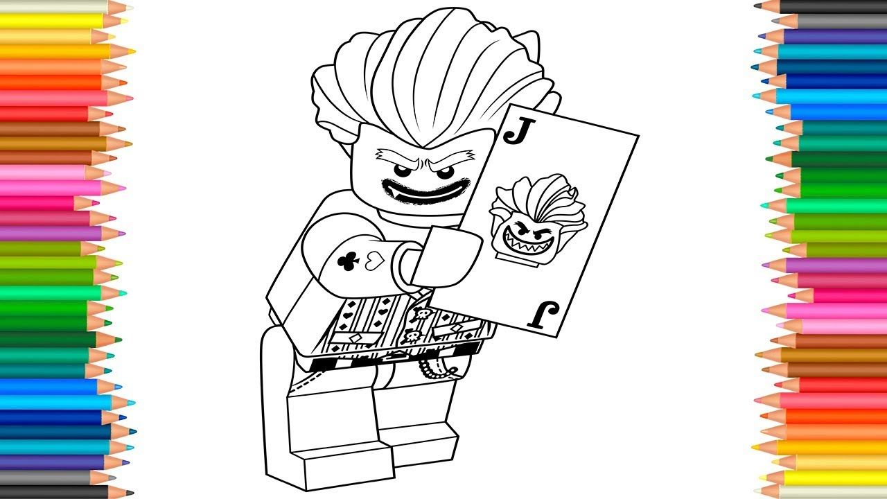 The LEGO Batman Movie 2017 Joker Coloring Page l Coloring Markers ...