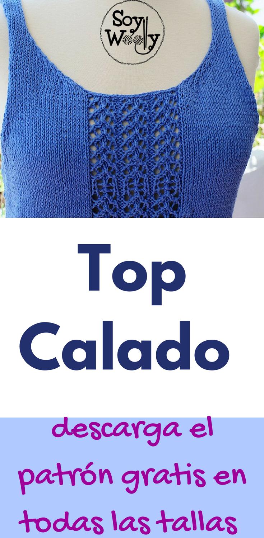 Blusa o Top tejido en dos agujas: Patrón descargable | Soy Woolly ...